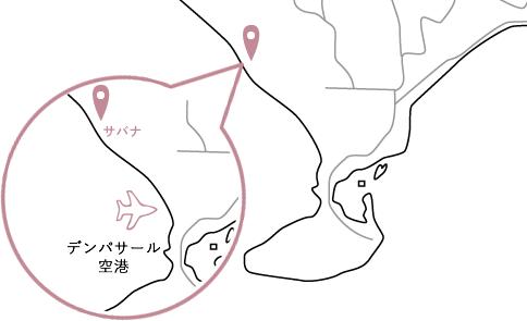 サバナロケーションマップ